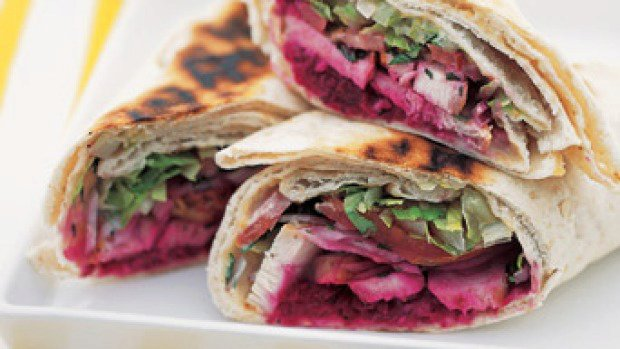 Lebanese wrap with chargrilled chicken
