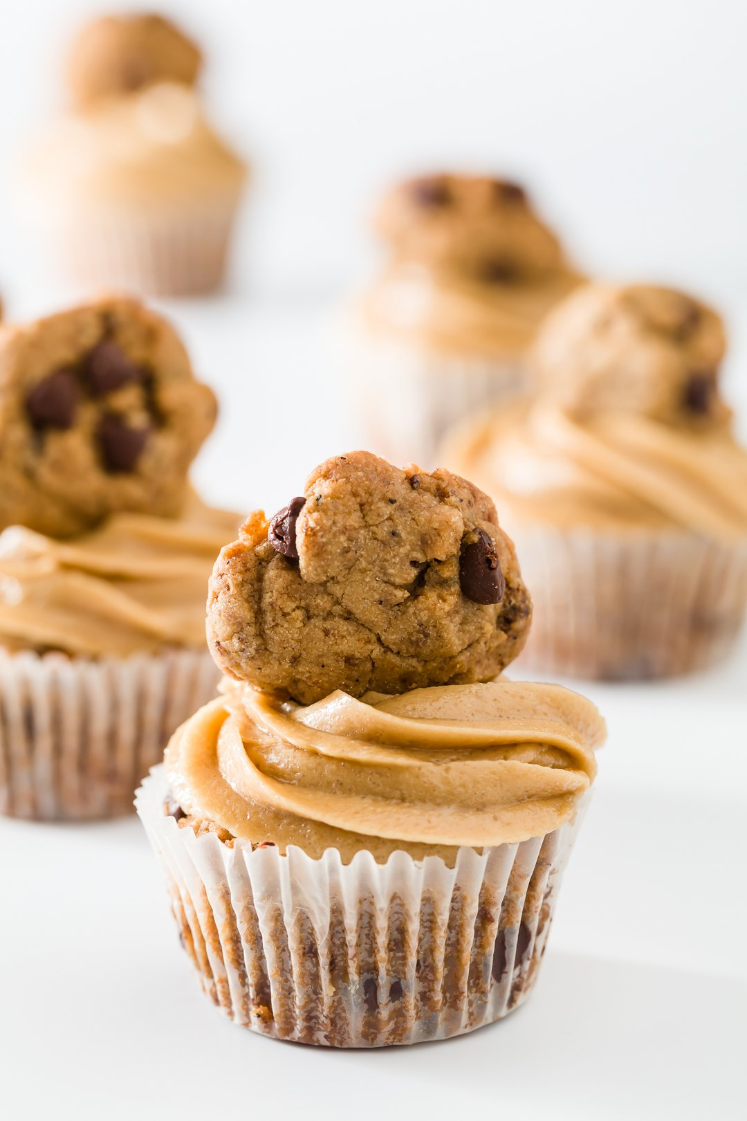 Cookie Cupcakes with Cookie Dough Frosting