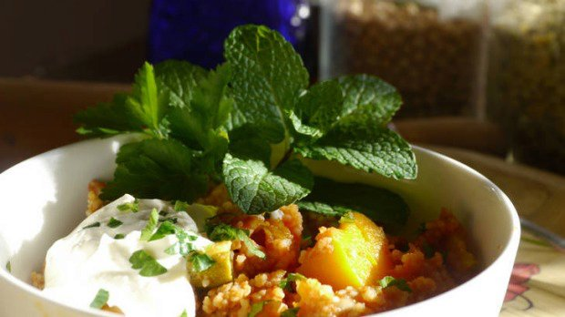 MamaBake's slow-cooked Moroccan vegetable couscous