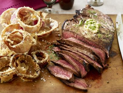 London Broil with Herb Butter